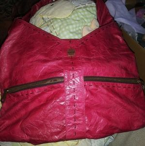 Hot pink mat and Nat purse